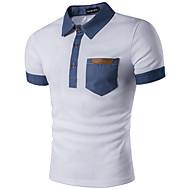 Masculino Polo Casual Trabalho Esportivo Simples Activo Verão,Listrado Estampa Colorida Algodão Raiom Colarinho de Camisa Manga Curta Fina