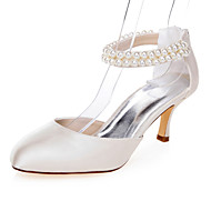 cheap Wedding Shoes-Women's Heels Spring Summer Fall Comfort Fabric Wedding Party & Evening Dress Stiletto Heel Pearl