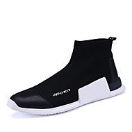 billige Black High Tops-Herre Sko Tyl Forår / Efterår Komfort Sneakers Sort / Rød