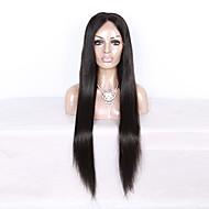 女性 人毛レースウィッグ 人毛 フルレース 130% 密度 ストレート かつら ブラック ショート丈 ミディアム丈 ロング丈 ナチュラルヘアライン 黒人女性用 100%手作業縫い付け