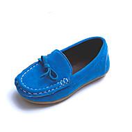 baratos Sapatos de Menino-Para Meninos Sapatos Couro Ecológico Primavera / Verão Conforto Mocassins e Slip-Ons Laço para Azul / Castanho Escuro / Vinho / Casamento