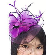 Χαμηλού Κόστους -Φτερό / Δίχτυ Γοητευτικά / Καλύμματα Κεφαλής / Βιτρίνα Πτηνών με Φλοράλ 1pc Γάμου / Ειδική Περίσταση Headpiece