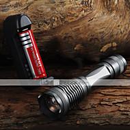 E6 Lanternas LED Lanternas de Mão LED 2000 Lumens 5 Modo Cree XM-L T6 Foco Ajustável para Campismo / Escursão / Espeleologismo Uso Diário