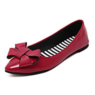 Women's Loafers & Slip-Ons Comfort PU Spring Summer Casual Dress Comfort Bowknot Flat Heel Black Ruby Light Green Flat