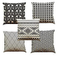 "Set of 5 Triangular Geometry Pattern Printed Creative Decoration for Sofa Car Pillowcases (18""*18"")"