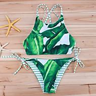 Mulheres Nadador Biquíni Estampado Folha tropical