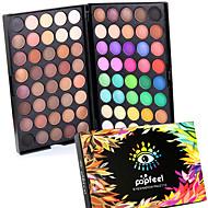 80 Paleta de Sombras Secos Mate Brilho Paleta da sombra Pó NormalMaquiagem para o Dia A Dia Maquiagem para Dias das Bruxas Maquiagem de