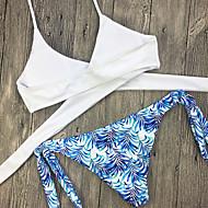 Ženski Bikini-Grudnjak na vezanjeS cvjetnim printom-Najlon Poliester