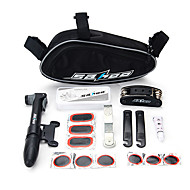 billige Sykkeltilbehør-Verktøysett / Sykkelpumpe og limfritt reparasjonssett til sykkeldekk Multifunksjonell, Praktiskt Sykling / Sykkel Plast / Stål Svart