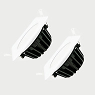 zdm 2pcs 7w dimmable 600-650lm ip65防水白いスクエアledランプdimming ac220v