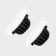 ZDM 2stk 7W dimmes 600-650lm IP65 vanntett hvite firkanten ledet lampe dimming AC220V