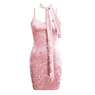 Mulheres Bainha Vestido Sólido Decote U Cintura Baixa