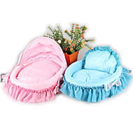 Cat Dog Bed Pet Mats & Pads Solid Soft Blue Blushing Pink