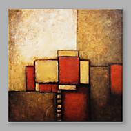 Χαμηλού Κόστους Dining Room-Ζωγραφισμένα στο χέρι Αφηρημένο Τετράγωνο, Μοντέρνα Καμβάς Hang-ζωγραφισμένα ελαιογραφία Αρχική Διακόσμηση Μονόπτυχα