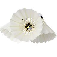 12 × 2 Badminton Federbälle aus echten Federn Langlebig für Entenfeder
