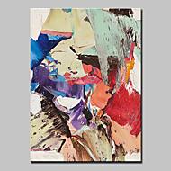 baratos -Pintados à mão Abstrato Vertical, Estilo Europeu Modern Tela de pintura Pintura a Óleo Decoração para casa 1 Painel