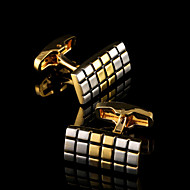 cheap Men's Accessories-Geometric Golden Cufflinks Copper Pattern Classic Fashion Gift Boxes & Bags Party Business / Ceremony / Wedding Men's Costume Jewelry