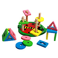 Stavební bloky Vzdělávací hračka Hračky Válcový Pieces Děti Dětské Dárek