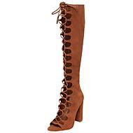 Feminino-Botas-Conforto Inovador Gladiador Sapatos clube-Salto Grosso Salto de bloco--Camurça-Ar-Livre Social Casual Festas & Noite