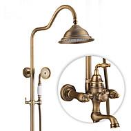 アンティーク 田園風 近代の シャワーのみ 回転可 セラミックバルブ シングルハンドル二つの穴 アンティーク銅 , シャワー水栓