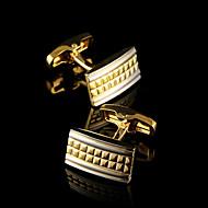 Manchetknoop Dasspeld Dasclip Koper Modieus Gift Boxes & Bags Manchetknopen Gouden 1 paar