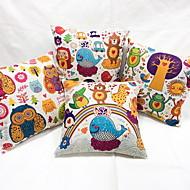 1 個 リネン 新奇な枕 枕カバー 抱き枕 旅行用枕 ソファのクッション,アニマルプリント カジュアル コンテンポラリー 田園風 装飾 屋外 トロピカル風