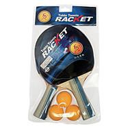 3 Sterne Ping Pang/Tischtennis-Schläger Ping Pang Gummi Langer Griff Roh-Kautschuk 2 Schläger 3 TischtennisbälleDrinnen Leistung Training