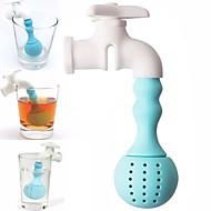 Silikon Wasserhahn Tee Infuser Sieb Kräuter Gewürz Filter Diffusor Tee Werkzeuge