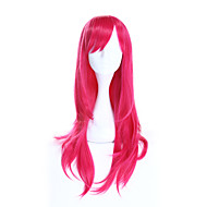Fashion Rose Color Straight Wig Cospaly European Synthetic Wigs