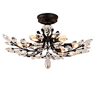 LightMyself 8 Lights Flush Mount Modern/Contemporary Traditional/Classic Vintage Retro Country Painting Feature for Crystal LED Living Room Bedroom