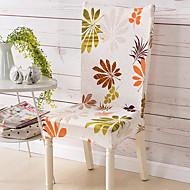 קלסי פוליאסטר כיסוי כיסא , כיסוי צמוד פרחוני  בוטני הדפס כיסויים