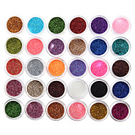 30pcs gemengde kleur oogschaduw poeder glitter minerale spangle sequins nagel kunst decoraties