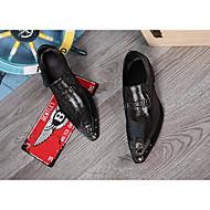 baratos Sapatos Masculinos-Homens Sapatos formais Pele Napa Primavera / Outono Vintage Oxfords Dourado / Prata / Festas & Noite