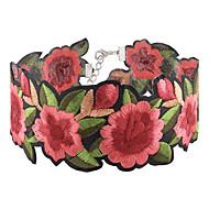 Dame Kort halskæde - Blomst Mode, Euro-Amerikansk Rød Halskæder 1pc Til Fest