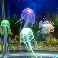 cheap Aquarium & Fish Accessories-Aquarium Decoration Jellyfish Ornament Adjustable Artificial Non-toxic & Tasteless Noiseless Silicone