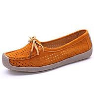 ieftine -Pentru femei Pantofi Piele Vară / Toamnă Confortabili Mocasini & Balerini Toc Drept Vârf rotund Rosu / Albastru / Roz