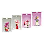 Karton Çiçekler 3D Duvar Etiketler Uçak Duvar Çıkartmaları 3D Duvar Çıkartması Dekoratif Duvar Çıkartmaları,Vinil Malzeme Ev dekorasyonu
