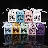 ieftine Big Heard Love®-În Formă de Cub Hârtie perlă Favor Holder cu Panglici Cutii de Savoare