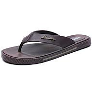Herren-Slippers & Flip-Flops-Outddor-PU-Flacher Absatz-Komfort-