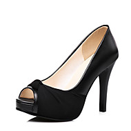 cheap Women's Heels-Women's Shoes Leatherette Spring Summer Club Shoes Formal Shoes Heels Stiletto Heel Peep Toe Bowknot for Wedding Party & Evening Dress