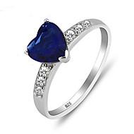指輪 女性用 キュービックジルコニア 純銀 純銀 6 / 7 / 8 銀 装飾物のカラーは画像をご参照ください.