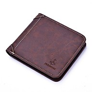Men Bags PU Polyester Wallet for Shopping Casual Office & Career All Seasons Black Coffee Deep Blue