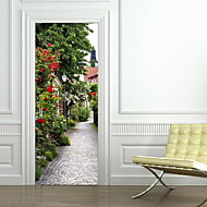 Landscape Wall Stickers 3D Wall Stickers Decorative Wall StickersVinyl Material Home Decoration Wall Decal Door Stickers