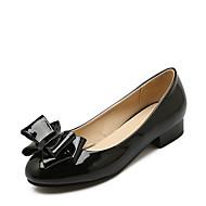 Mujer Zapatos Cuero Patentado Verano / Otoño Confort Bailarinas Tacón Cuña Remache Rojo / Azul / Rosa qDLybj