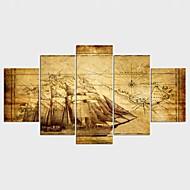 キャンバス地プリント 静物画 Modern,5枚 キャンバス 任意の形状 版画 壁の装飾 For ホームデコレーション