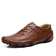 Atletické boty-Kůže-Pohodlné-Pánské-Černá Hnědá-Outdoor Běžné Atletika-Plochá podrážka
