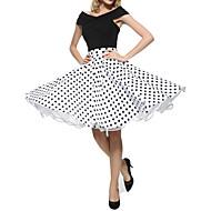 Žene A kroj Ulični šik Suknje - Na točkice Drapirano