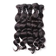 マレーシアンヘア ルーズウェーブ バージンヘア 人間の髪編む 4バンドル 8-26インチ 人間の髪織り ブラック