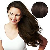 머리 확장에 20pcs 테이프 # 2 어두운 갈색 모카 갈색 40g 16inch 20inch 여성을위한 100 % 인간의 머리카락