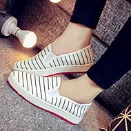 Damă Pantofi PU Toamnă Pantof cu Berete Pantofi Flați Toc Gros Pentru Casual Alb Negru Rosu